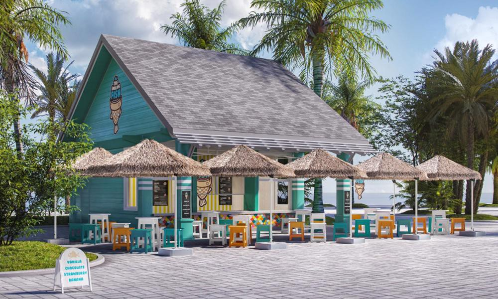The Smiling Fish Ice Cream Parlor, Ocean Cay