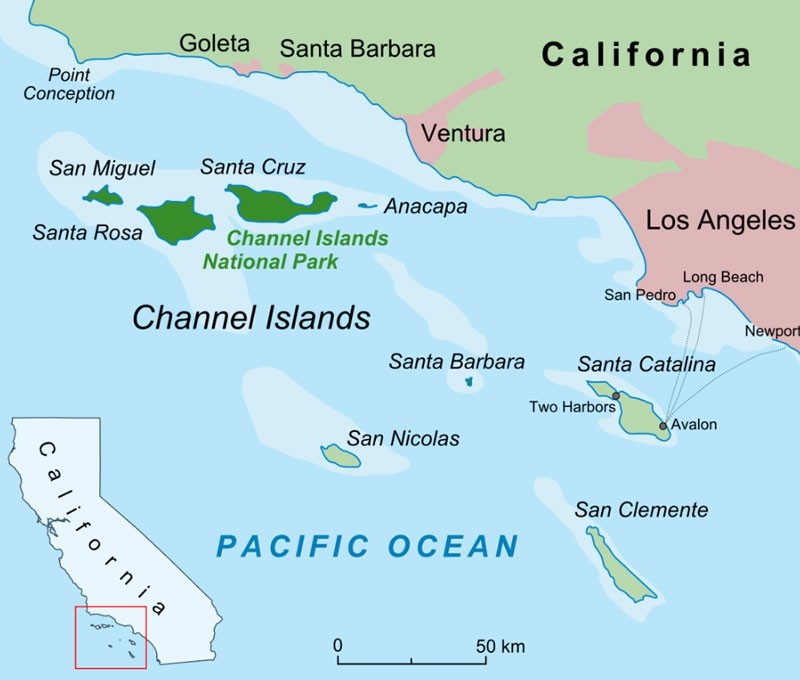 Map of California's Channel Islands