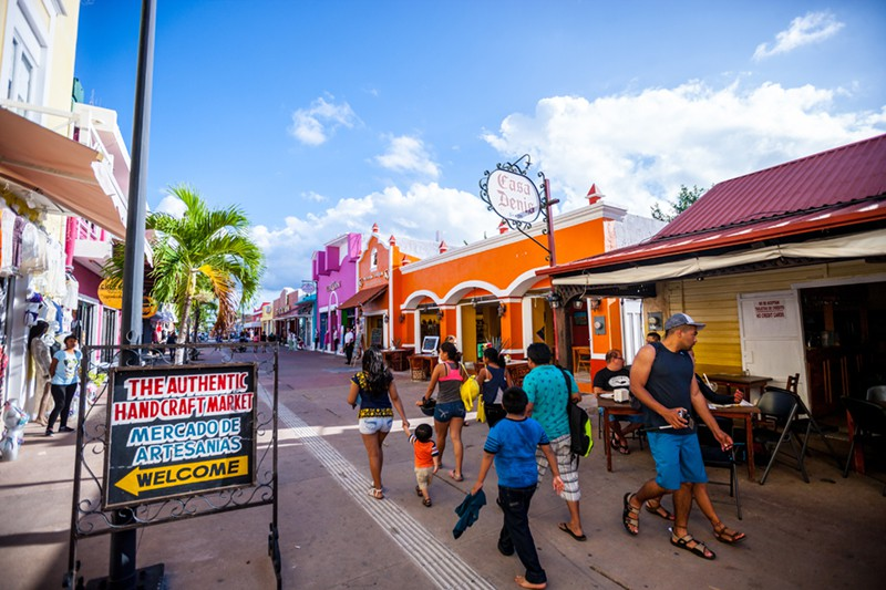 The town of San Miguel on Cozumel