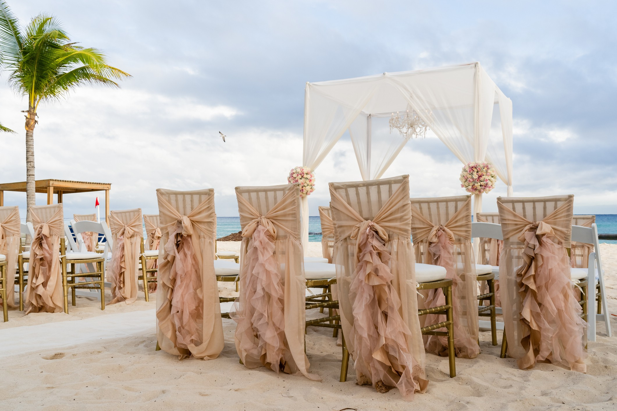 Mayan wedding on the beach