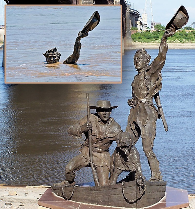 Lewis and Clark statue in St. Louis