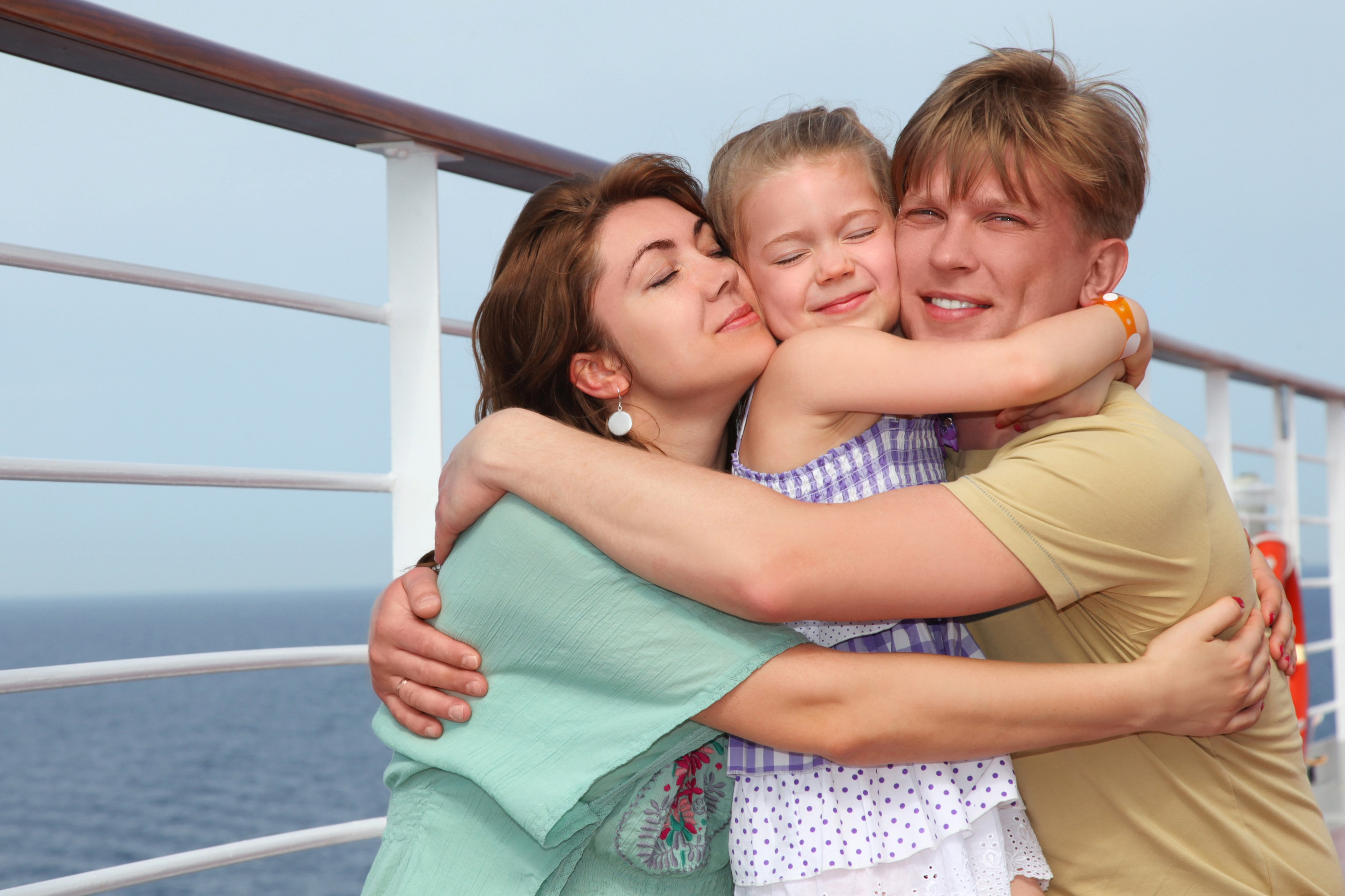 Families on a cruise