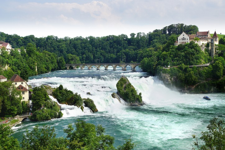 rhine falls switzerland vacation