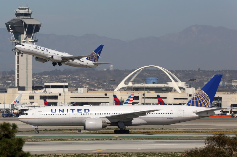 United planes at airport
