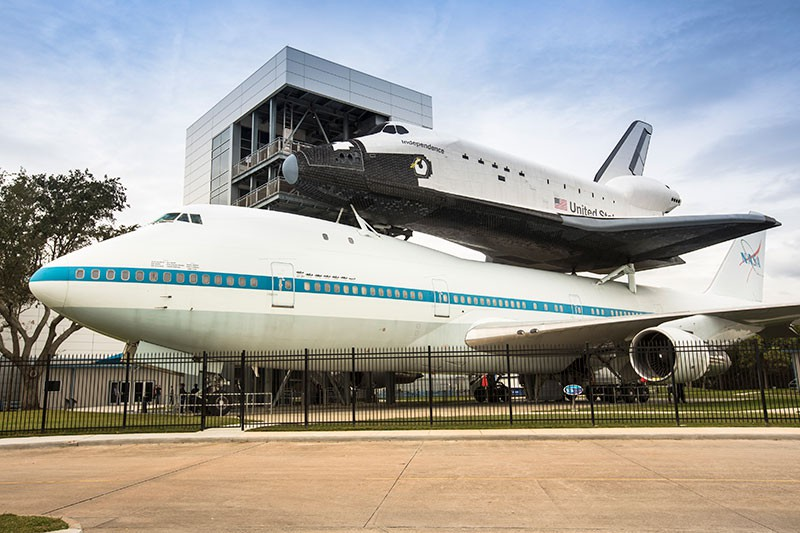 Houston Space Center with shuttle