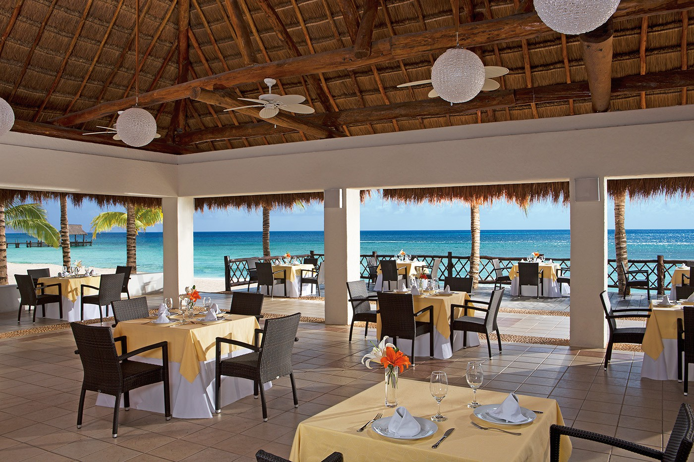 Dining at Secrets Aura Cozumel
