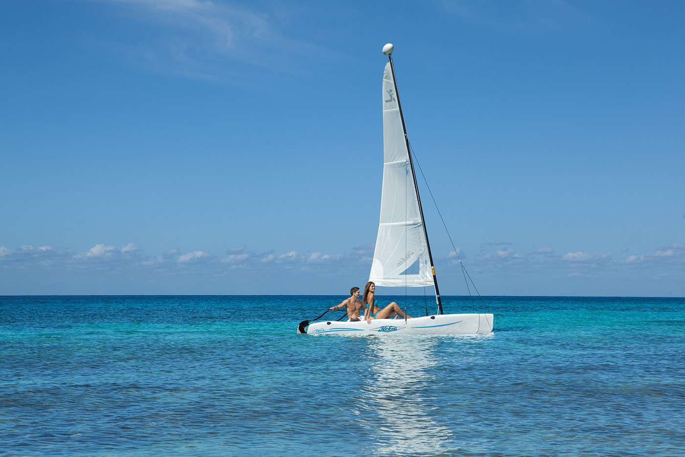 Sailing at Secrets Aura Cozumel