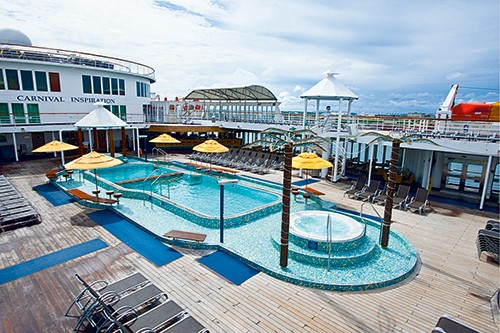 Carnival Inspiration Lido Deck Pool