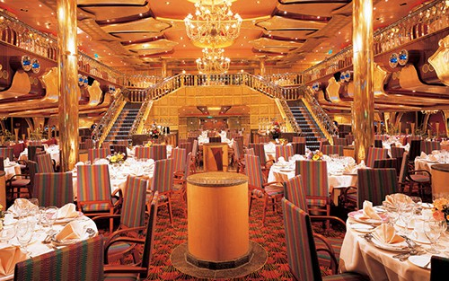 Carnival Liberty Gold Olympian Dining Room