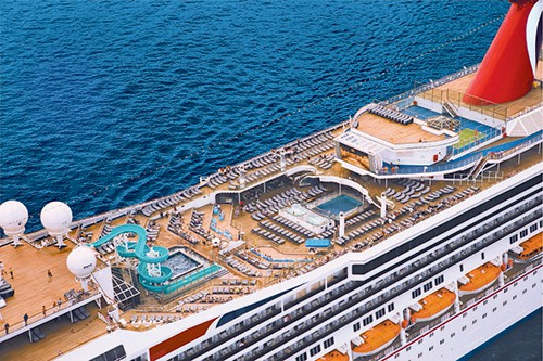 Carnival Liberty Aerial View of Pool