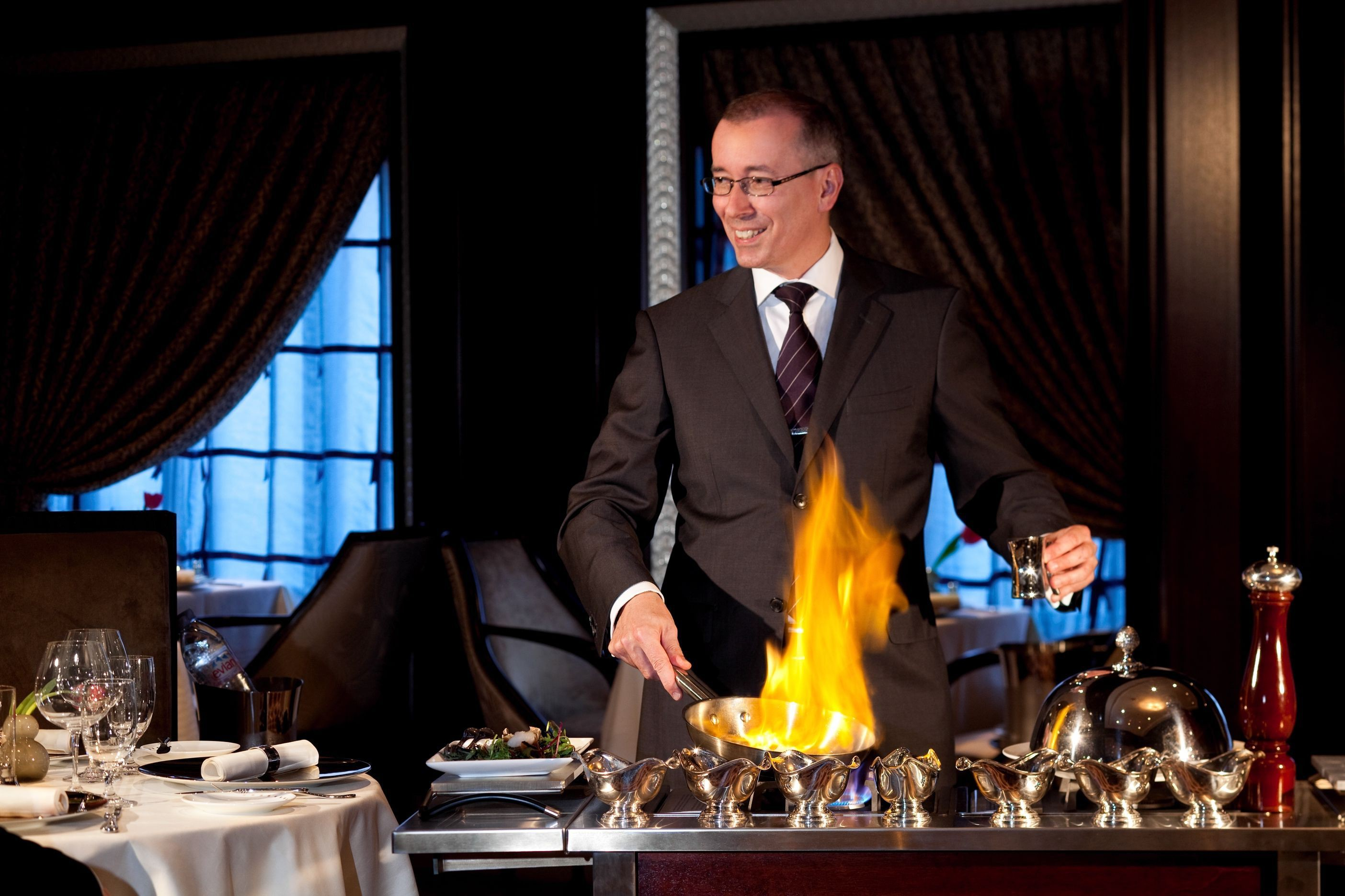 Flambe Restaurant on Celebrity Eclipse