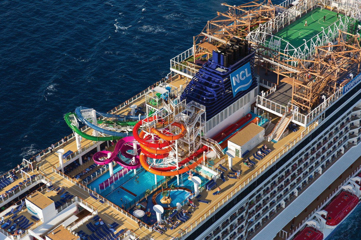 Norwegian Getaway Aerial of Pool