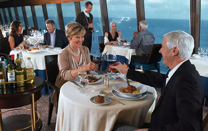 Dining rooms on board the Oceania Riviera