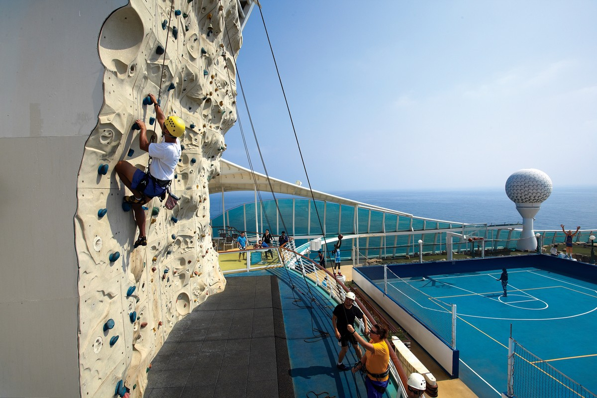 Rock Climbing on Voyager of the Seas